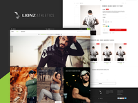 Lionz Athletics_Gym clothing brand ( E-commerce UI )