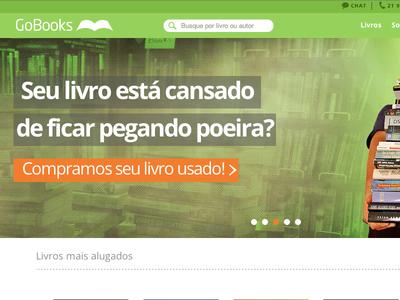 Home page UI/WebDev - Gobooks.com.br ui ux web development