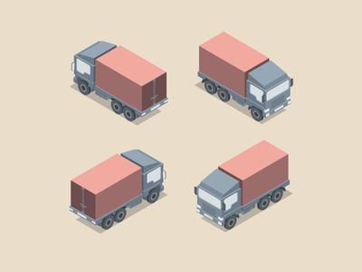 Isometric vector truck