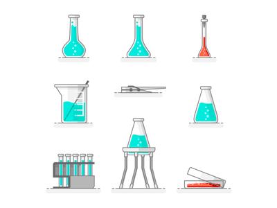 Scientific Set Of Laboratory
