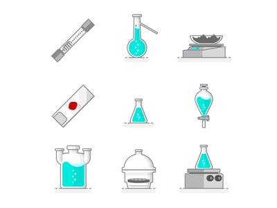 Scientific Set Of Laboratory Materials