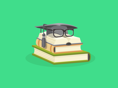 Study And Education Flat Design Concept. Vector Illustration.