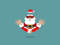Santa Claus Levitating