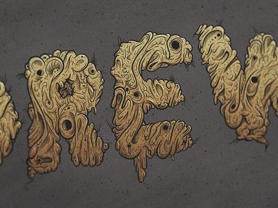 Grime Signature signature experimental typography hand drawn digital painting wacom grime drip goo gold illustration vector