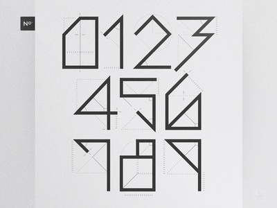 Numerals - Branding Typography personal branding branding angles greyscale black and white bw minimal modern experimental typography typography numbers