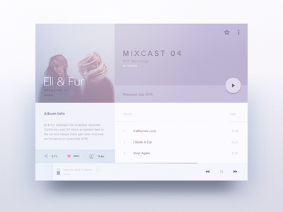 MIXIN – Tablet Player profile musician anjunabeats soft mixin album library player music