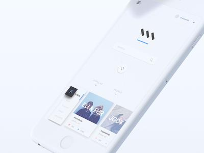 MIXIN – 3D Mockup c4d mockup 3d uiux ui clean minimal material design home search music