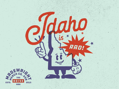 Idaho Is Rad! boise character illustration vector art graphic  design design texture vector pacific northwest idaho