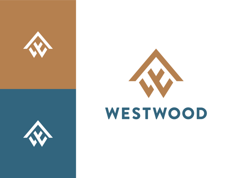 Westwood Homes Logo mark lockup logolounge w letter w house design vector branding logo