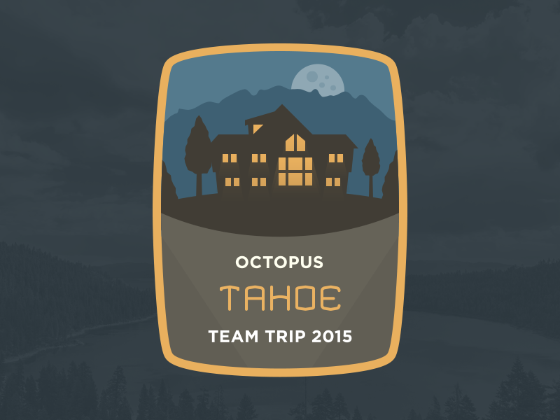Octopus 2015 Team Trip Badge system perks trips california tahoe octopus badge illustration