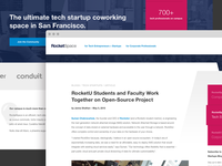 RocketSpace SF Redesign