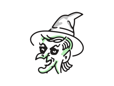 Wicked Witch spooky mullet illustration witch halloween