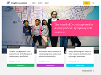 Knight Foundation Homepage Concept