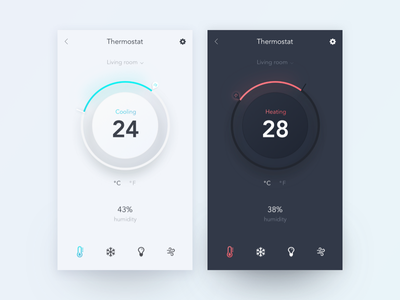Daily UI #021 Home Monitoring Dashboard smarthome smart app mobile ux ui dashboard monitoring home 020 dailyui