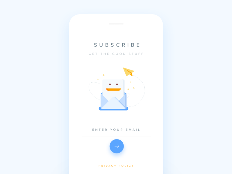 Daily UI #026 Subscribe app mobile ux ui daily email newsletter subscribe 026 dailyui