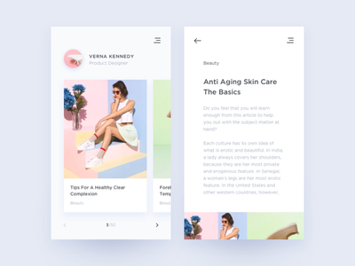 Daily UI #035 Blog Post beauty fashion mobile app ux ui post blog 035 dailyui