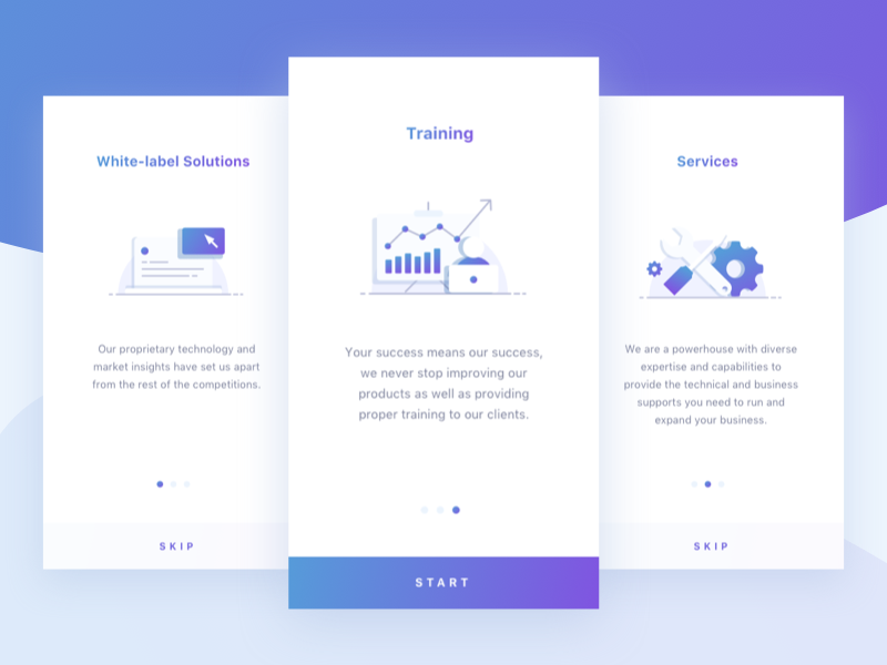 Onboarding trading