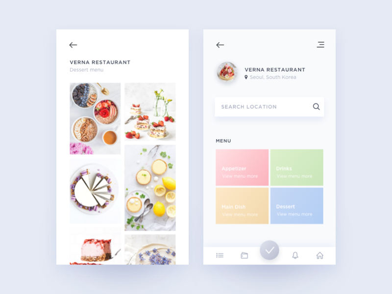 Daily UI #043 Food/Drink Menu