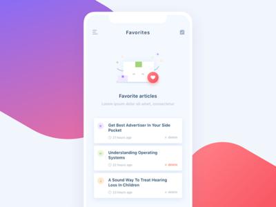 Daily UI #044 Favorites