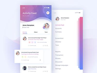 Daily UI #047 Activity Feed app history feed activity mobile ux ui 047 dailyui daily