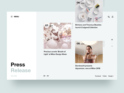 Daily UI #051 Press Page layout pressrelease release page press web ux ui 051 dailyui daily