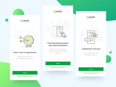 Upwork App Onboarding Presentation