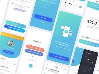 Insurance Payment App sketchapp adobexd profile payment blue insurance iphonex illustration icon mobile app ux ui