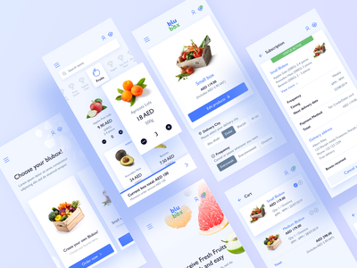 Blubox Mobile Responsive Design responsive web design green mobile first mobile ui delivery app delivery food food app blue responsive design responsive web design mobile app ux ui