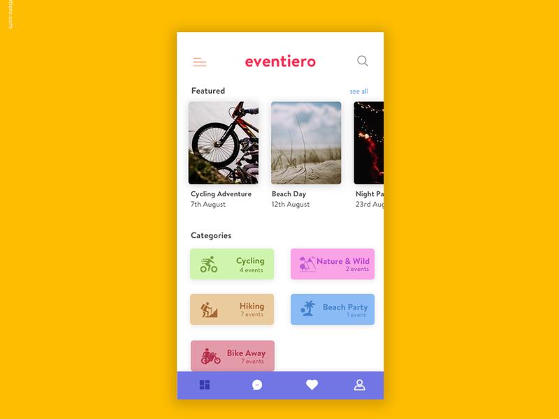 Eventiero workshop app event app app design ui design ux design ux ui design