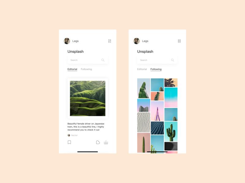 Unsplash APP Redesign NO1 redesign design icon color life ui illustration iphone ios app