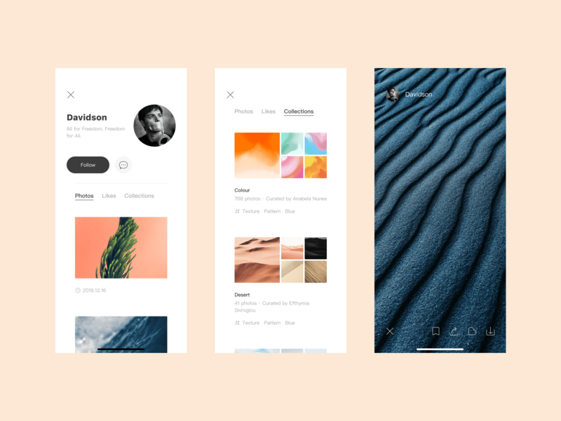 Unsplash APP Redesign NO2 daily redesign video personal life illustration iphone icon app ui