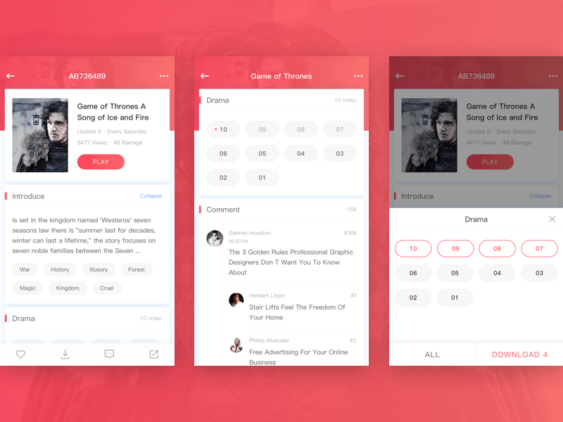 TV Series Details Page Design by Zhao Legs on Dribbble
