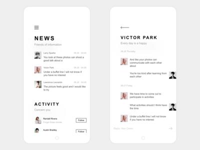 My Life App Design News & Message