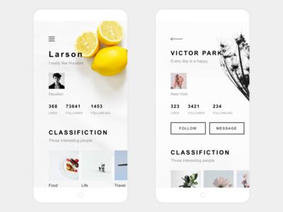 My Life App Design Me & User