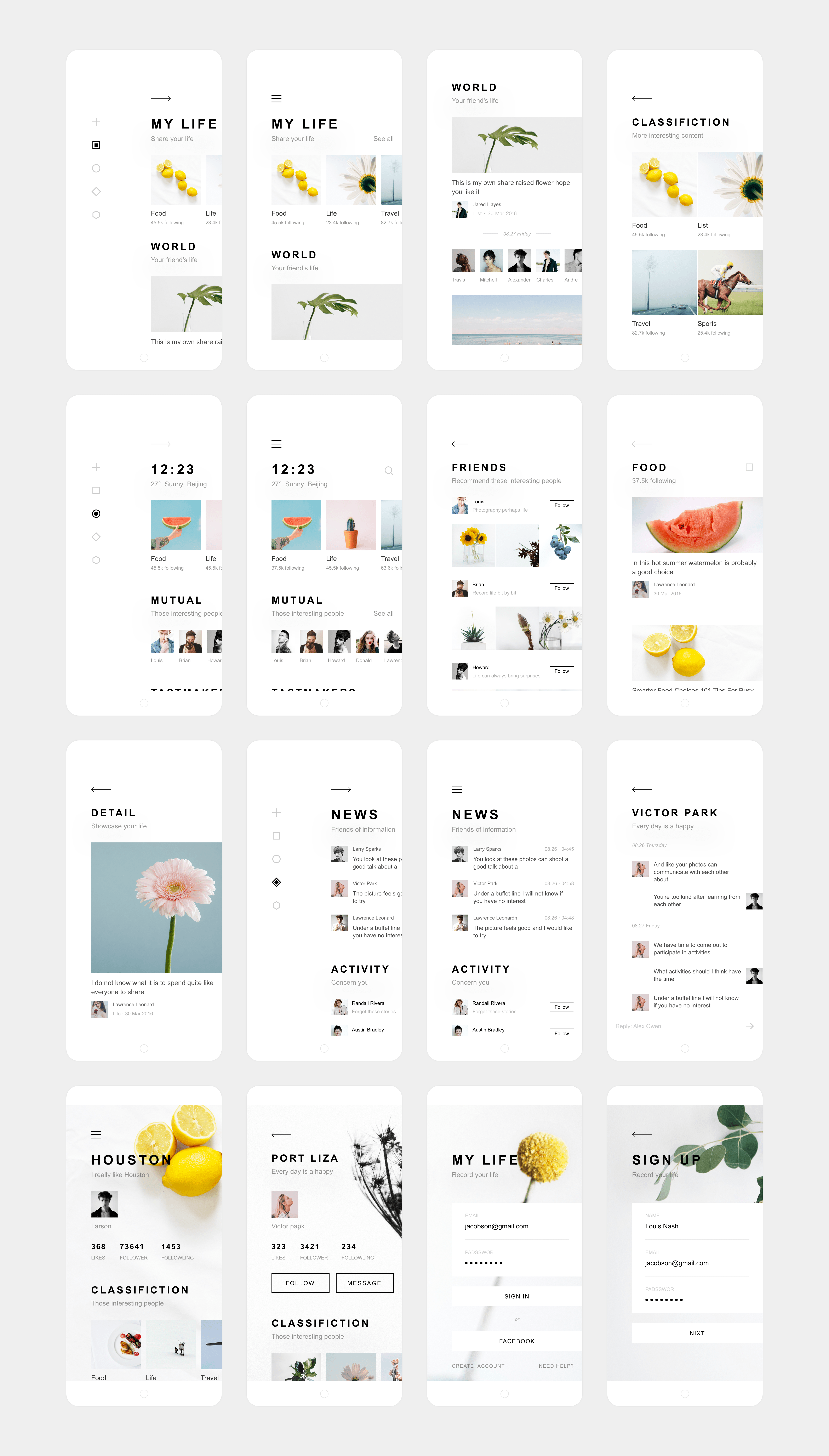 Dribbble My Life App Design By Zhao Legs