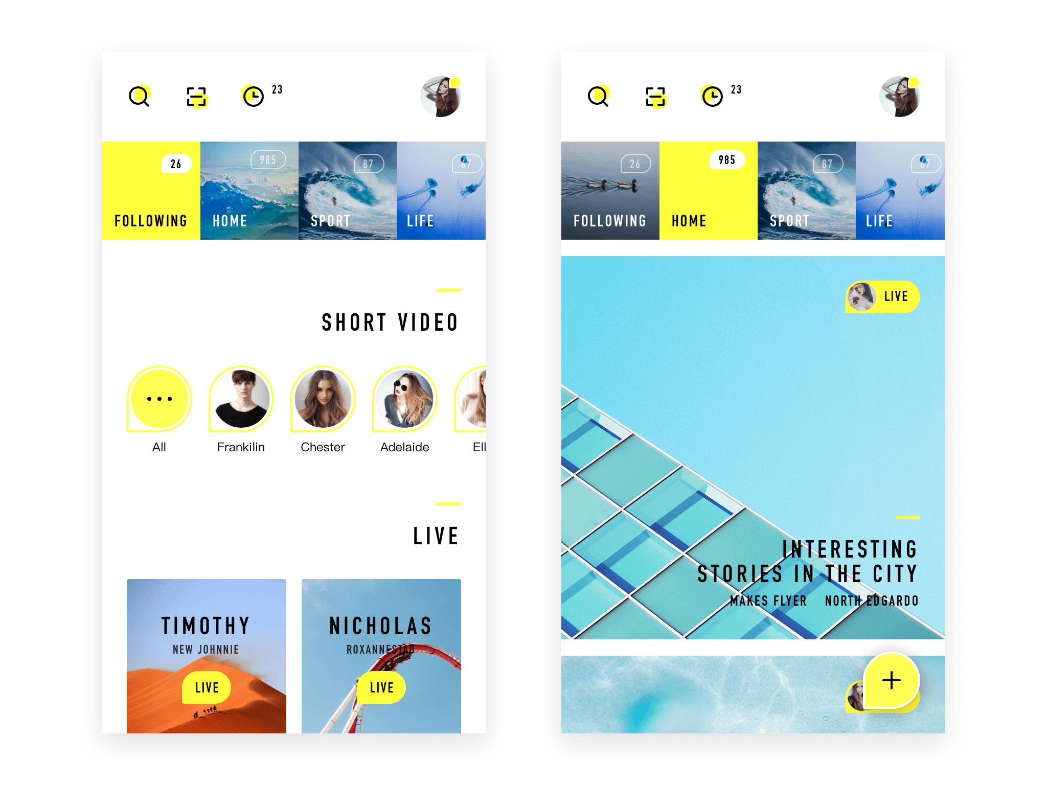 My life live app design annex