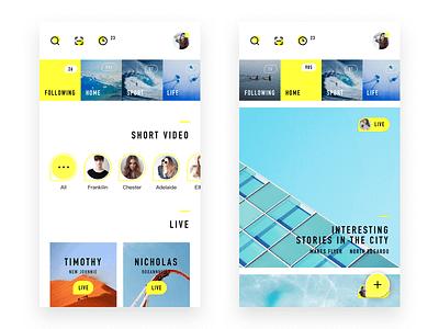 My Life Live App Design  live video ui personal life iphone ios illustration icon app