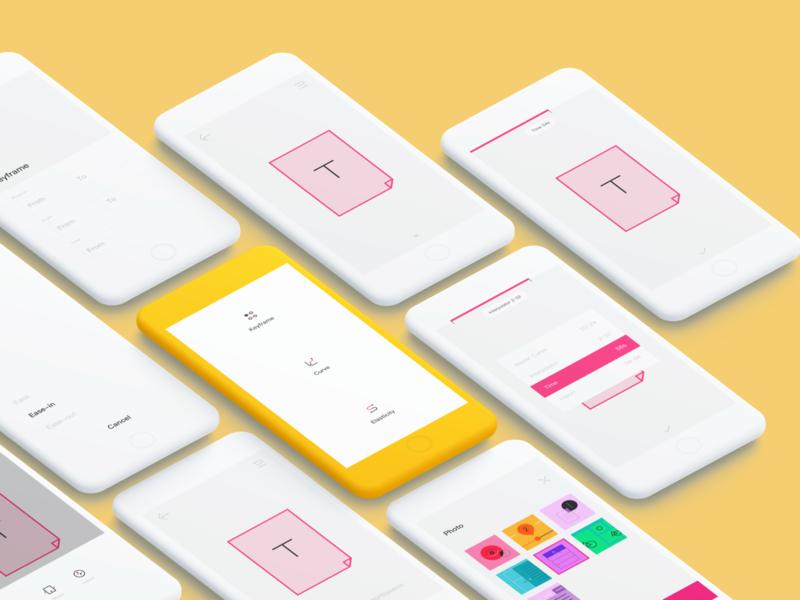 Elastic Simulator APP UI Design design color clean iphone ios icon app ui