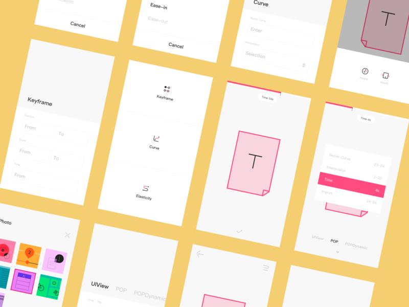Elastic Simulator APP UI Design 2 design color clean iphone ui icon ios app