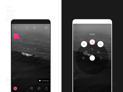 Doki Camera App UI Design One camera design color ui app ios personal iphone icon