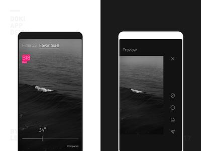 Doki Camera App UI Design Two camera design color iphone ios icon ui app