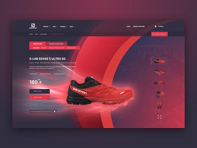 Salomon Redesign ui web redesign salomon