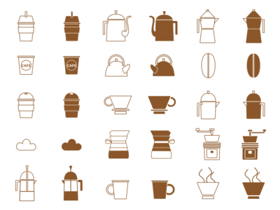 coffee icon set sketchapp cafe coffee iconset illustration vector icon ui