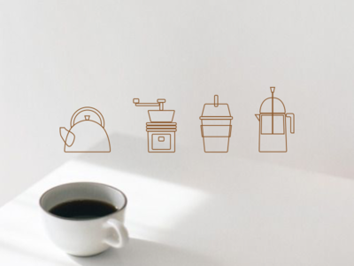 Coffee sketchapp line coffee icon