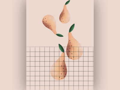Pears in action clean pear illustration
