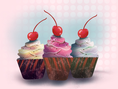 Cupcake delight clean cupcake illustration