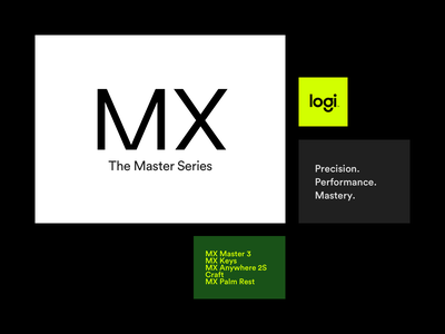 Design to the MX grid layout logotype logitech typography circular brand concept branding brand identity art direction