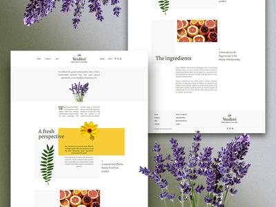 Verdüré – Mother Nature's Recipe Homepage fresh minimalist naturist branding product design creative direction web design user experience user interface 