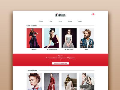 Division Model Management Homepage Redesign homepage landing page web development web design website identity design art direction visual communication brand identity creative studio visual identity rebranding