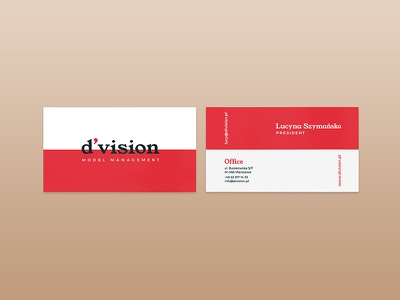 Division Model Management Business Card Design identity design art direction visual communication typography inspiration brand identity creative studio visual identity graphic design rebranding business card